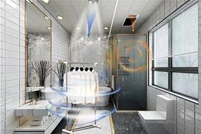 世纪豪门S8浴室干湿分区暖空调,一分钟温暖你的生活