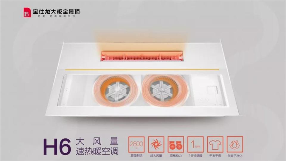 宝仕龙丨H6大风量速热暖空调,让你洗澡不再靠正气!